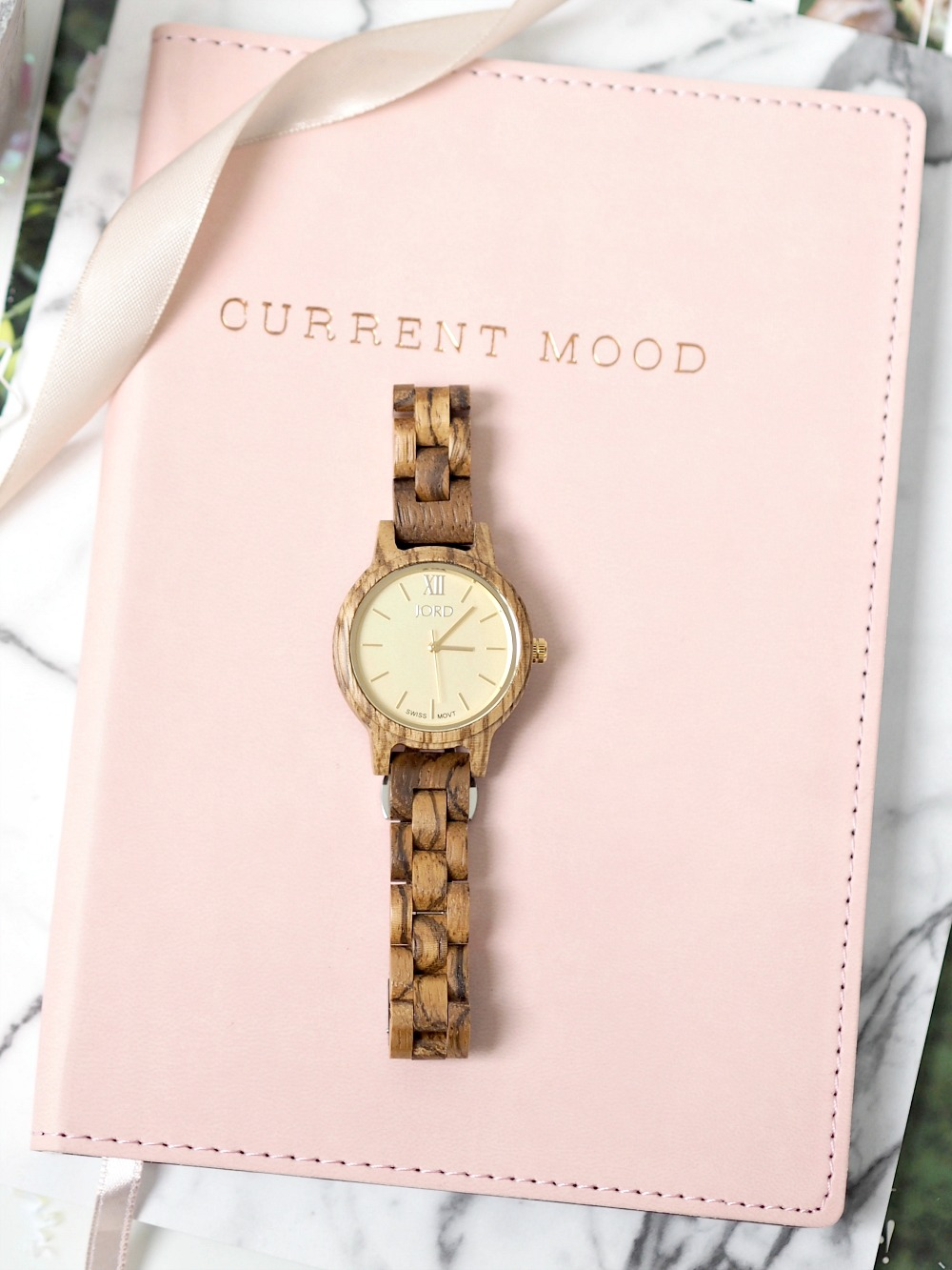 JORD Frankie 35 in Zebrawood & Champagne Watch – There's Always Time for Style