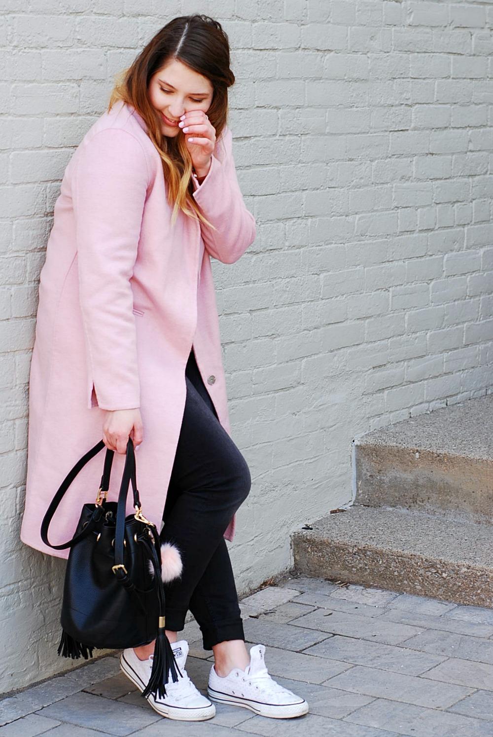 Pink Coat Topshop
