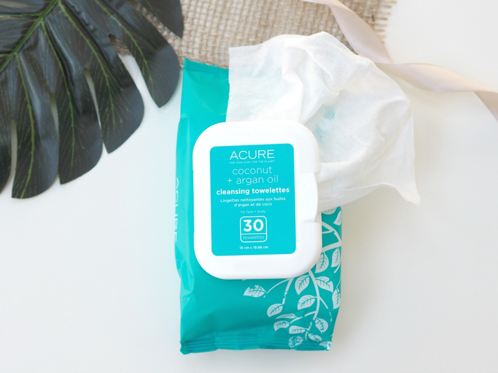 ACURE Coconut + Argan Oil Cleansing Towelettes Review