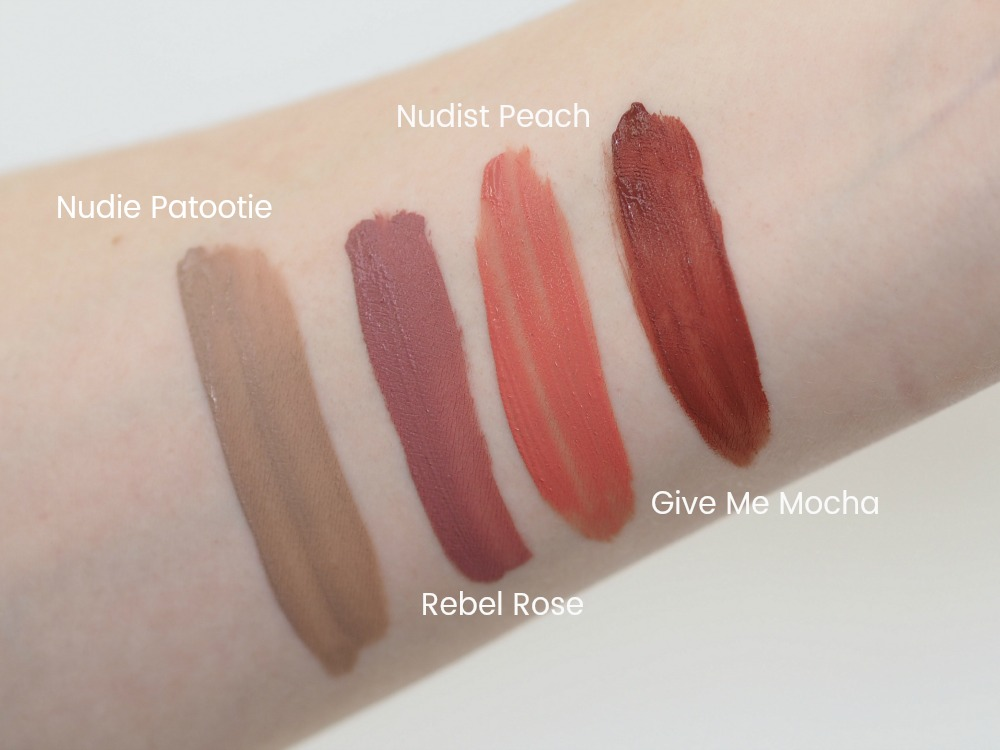 Wet'n'Wild Liquid Catsuit Matte Lipsticks Swatches