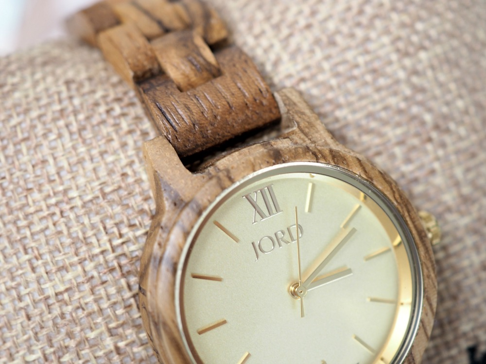 JORD Zebrawood Champagne Wood Watch Review Frankie 35