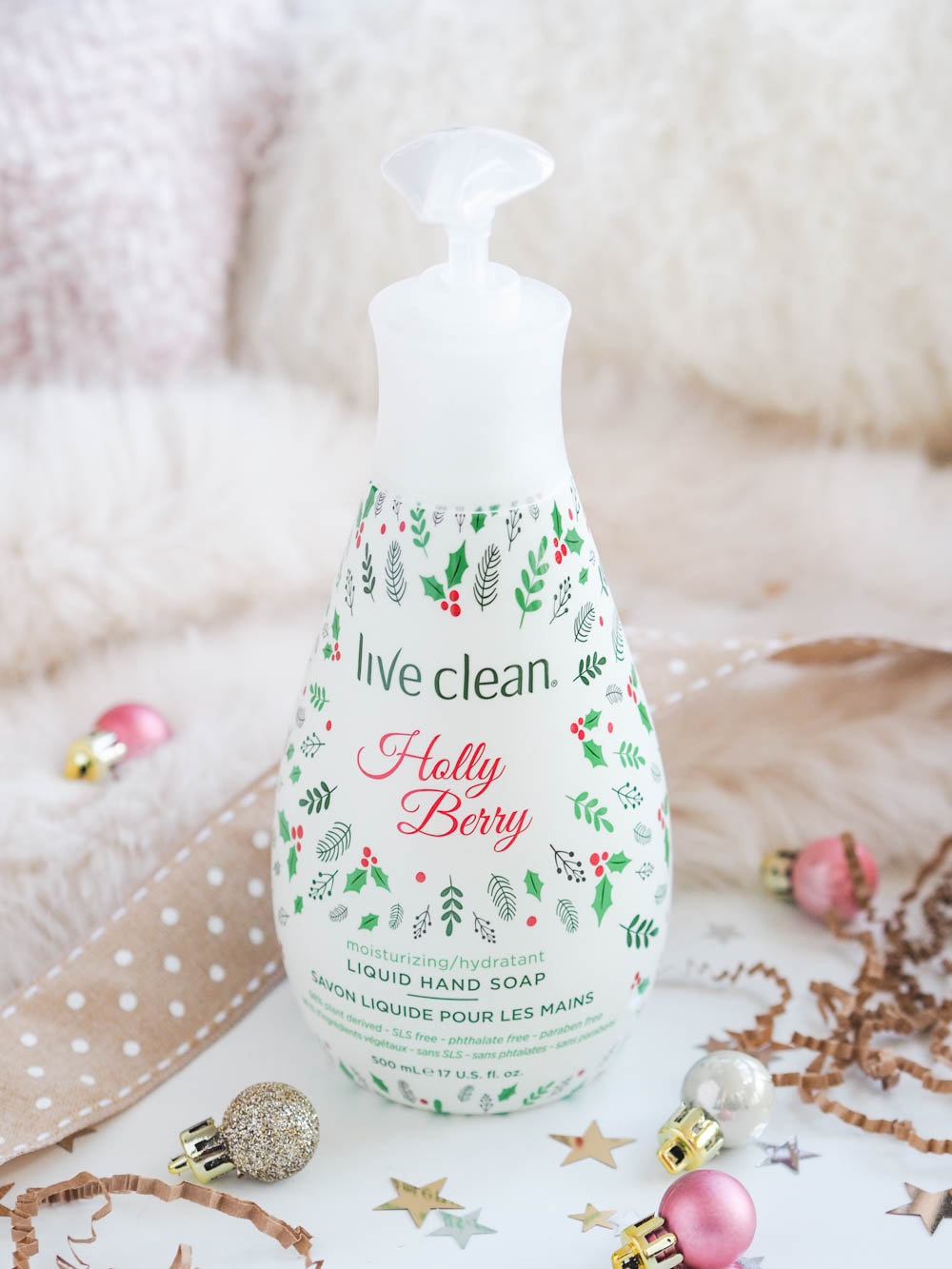 Live Clean holiday hand soaps Holly Berry review
